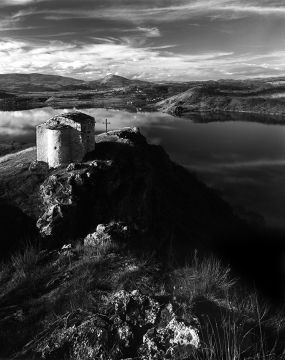 """Ivaylo Filipov Photograph - """"A Church on the Hill Of The  Lake"""""""