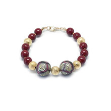 Red and Gold Shell Pearl Bracelet
